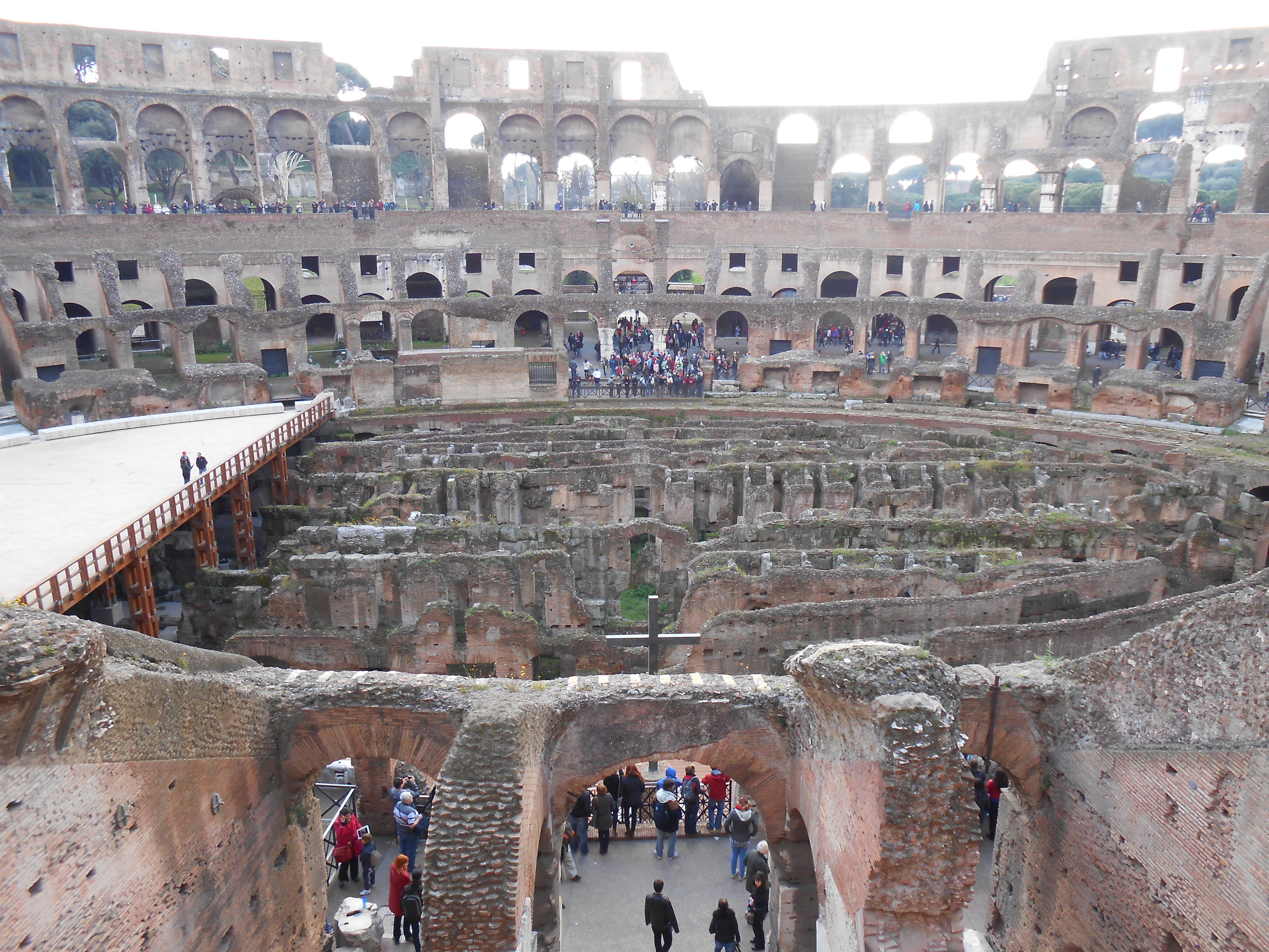 The Colosseum had seating for over 50,000 spectators who were seated in order of social class.