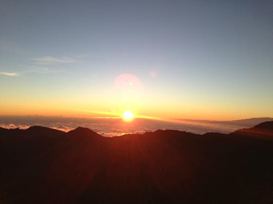 The sunrise from atop Haleakala in Maui, Hawaii