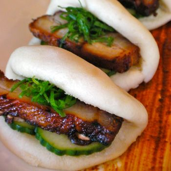 Signature steamed pork buns at Star Noodle
