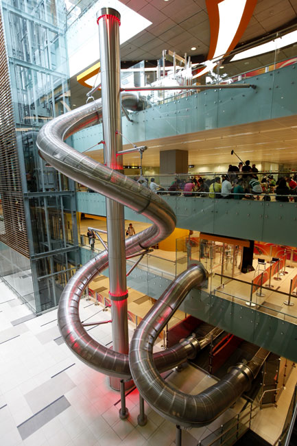 Let your inner kid (or your actual kid) enjoy these mega indoor slides.