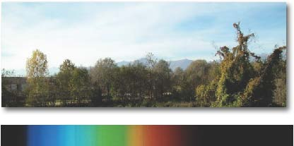 Color picture in visible light