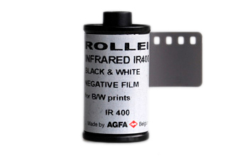 IR film in production in 2014: Rollei IR 400