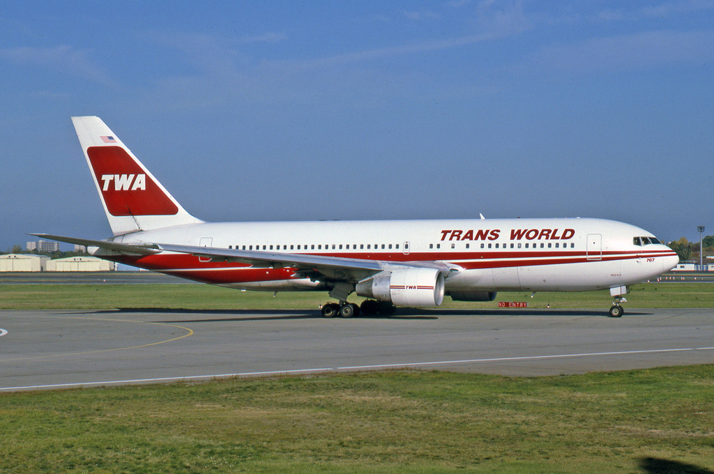 The Boeing 767 was a pioneer in ETOPS flying, with TWA being granted 120 minutes single engine flying time.
