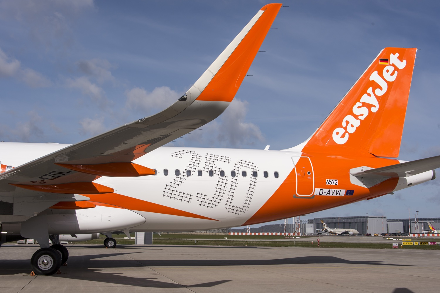easyJet's 250th Airbus carries special titles