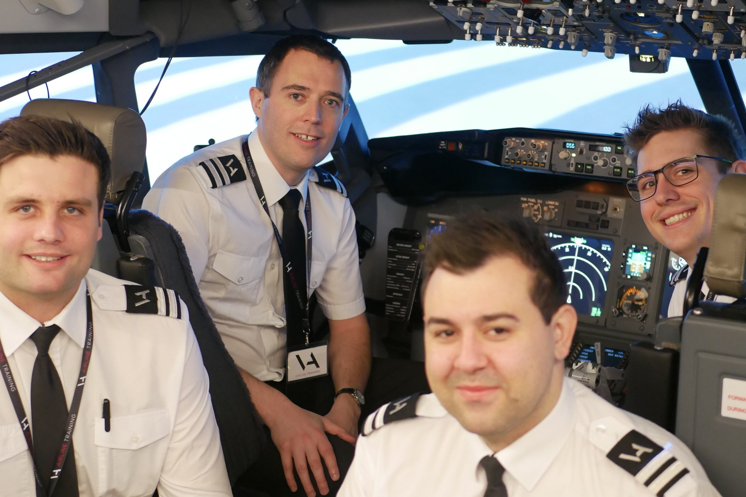 Ashton completed his APS MCC on the Boeing 737