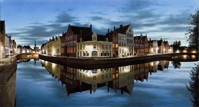 "Bruges After the Rain 32""Hx60""W"