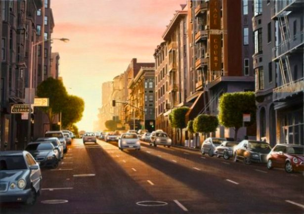 "Evening in San Fran 24""Hx34""W"