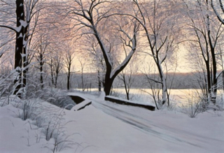 """After The Last Snowfall 28""""Hx40""""W"""