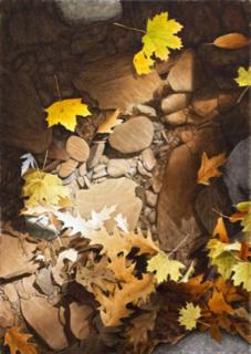 "Autumn Leaves 36""Hx26""W"
