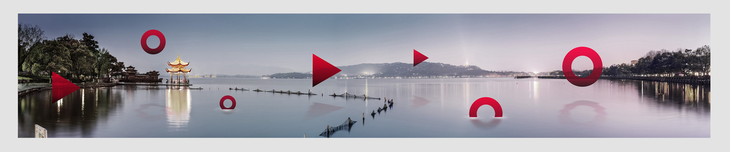 HIKVISION    Office Wall Artwork - In the frame:  West Lake -12 x 2 Metre Large Format Artwork