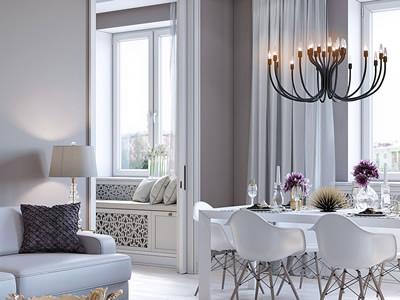 Проект трехкомнатной квартиры в классическом стиле
