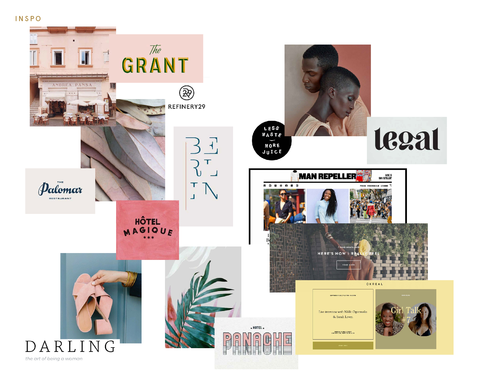 Mood Board created in initial branding process