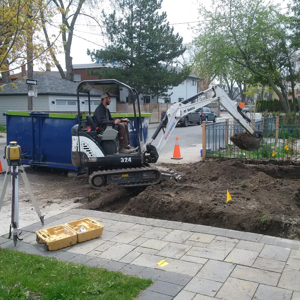 Beginning our Excavation