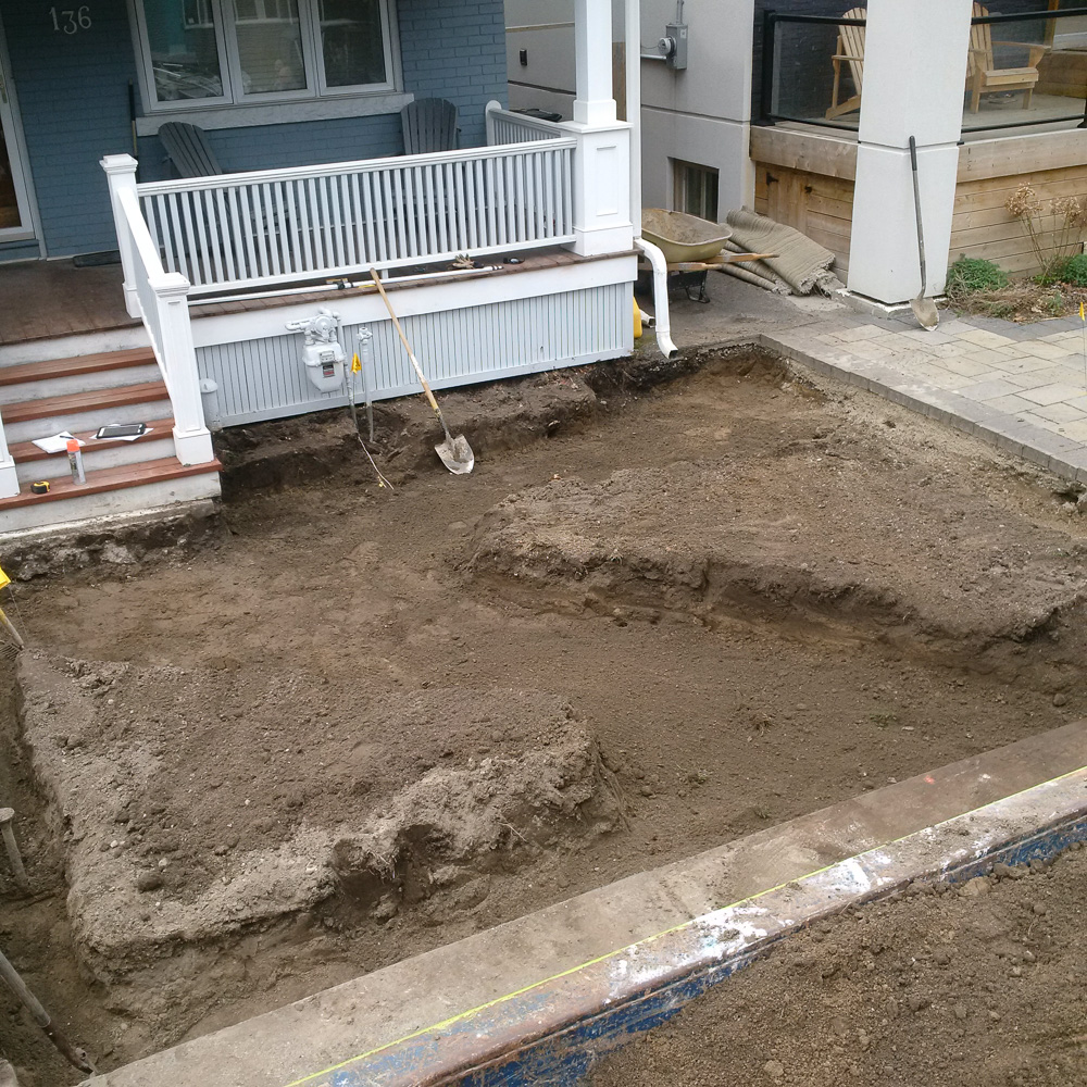 Excavation is all finished, time for base.