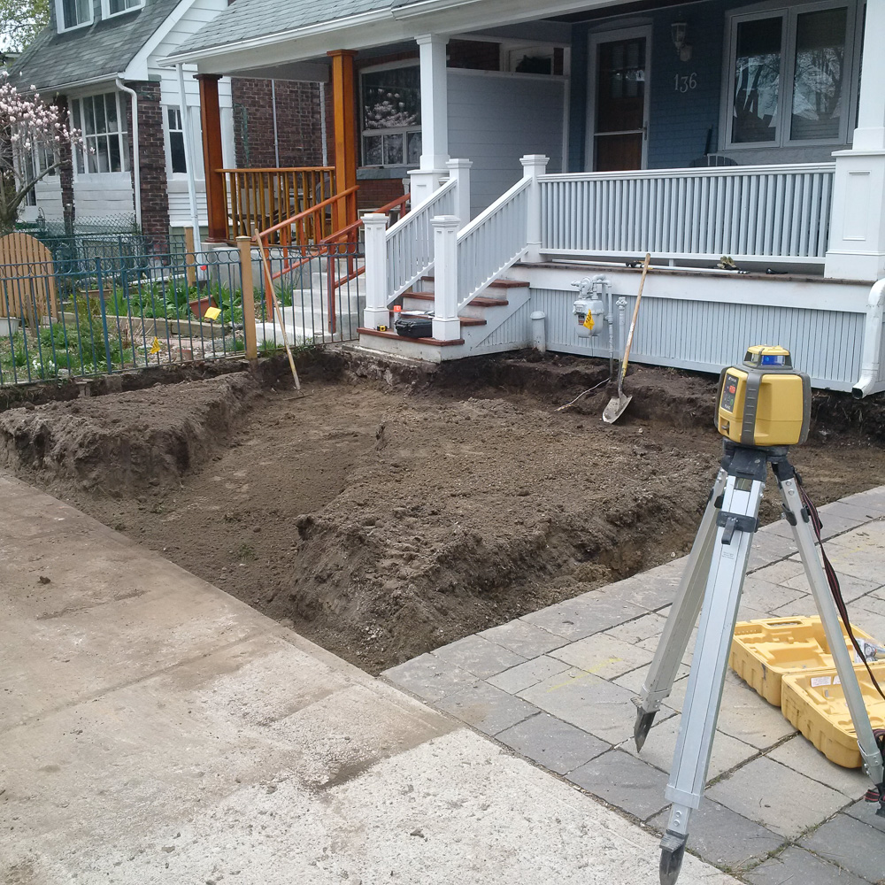 Another photo of the finished excavation