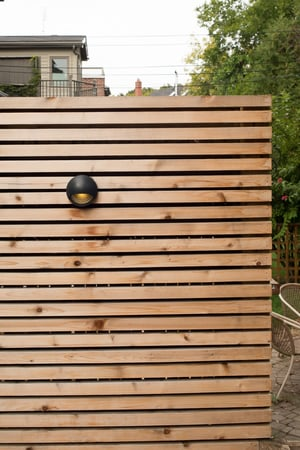 Completed Project - Cedar Privacy Screen