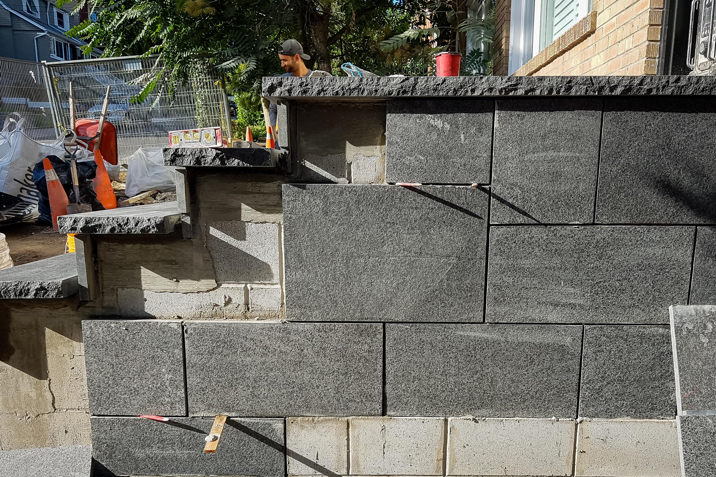 In Progress - Stone Veneer