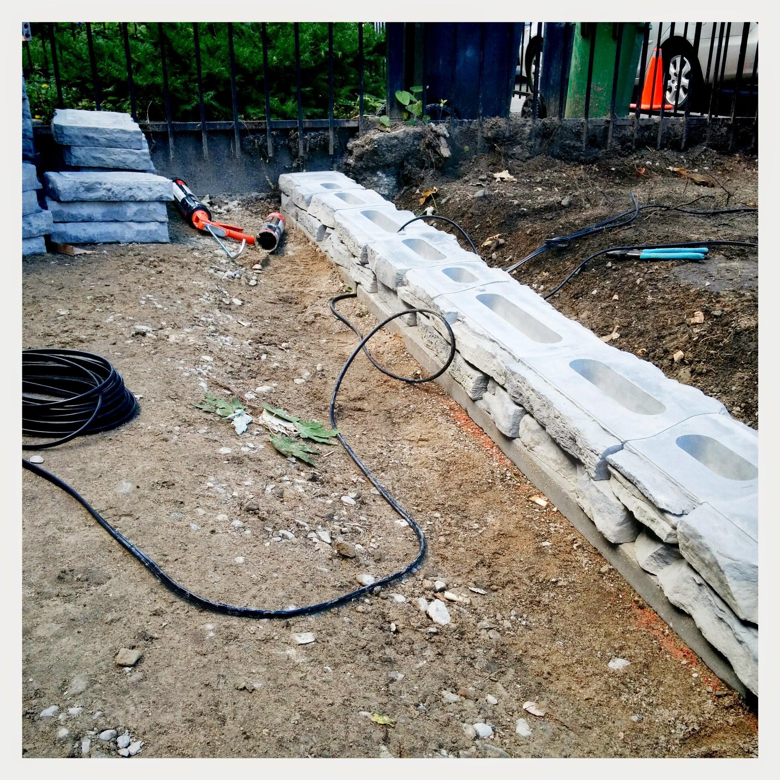 In Progress - Retaining Wall