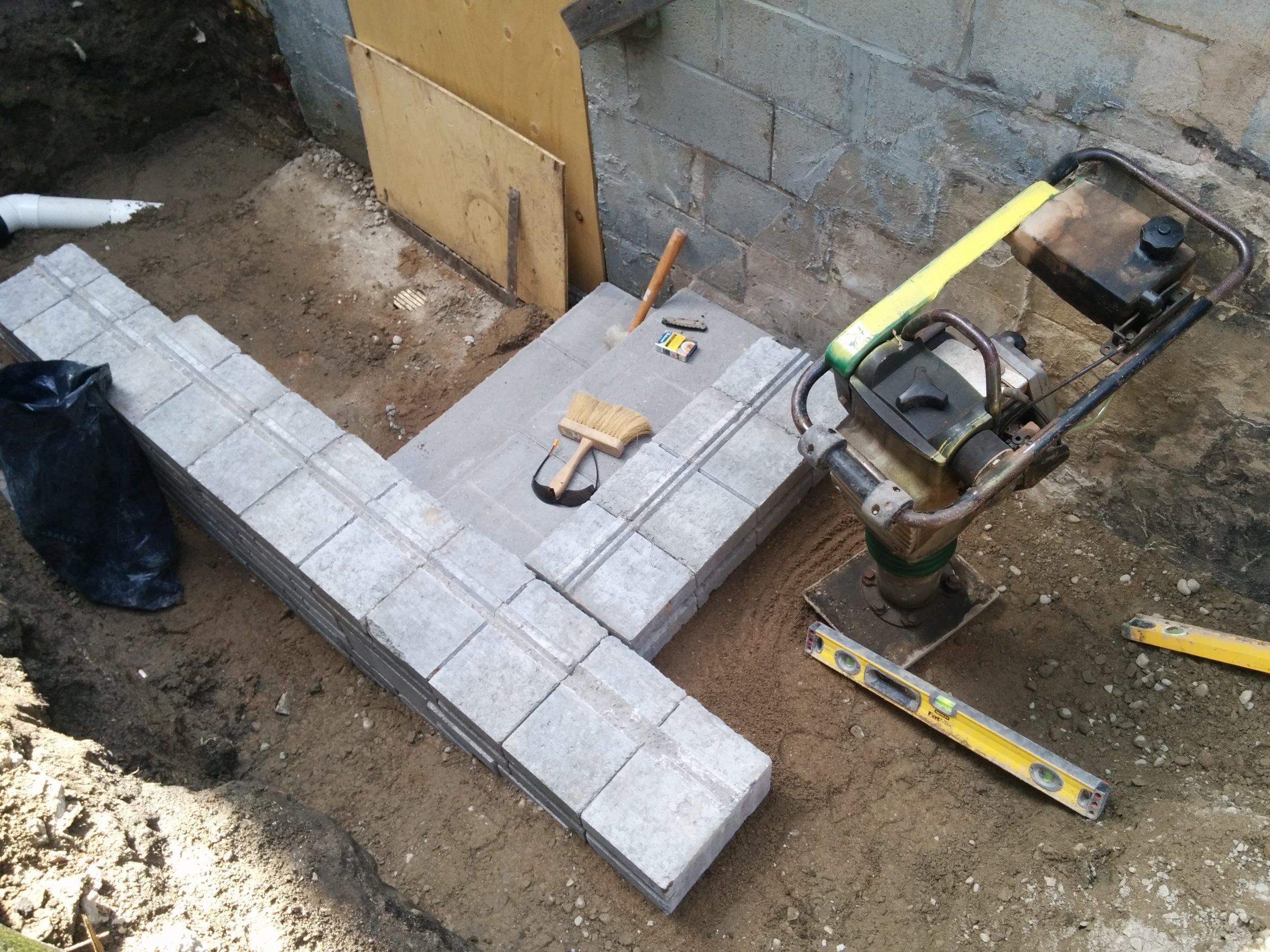 In Progress - Basement Steps