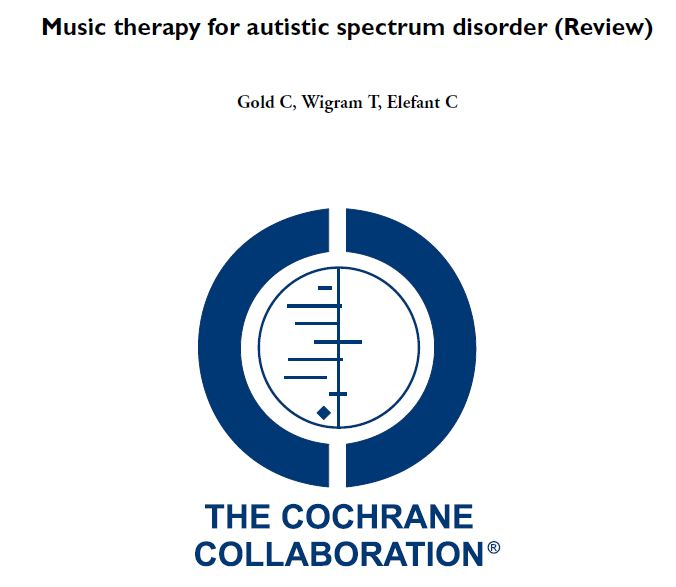 Evidence-based research  suggesting that music therapy has positive effects on the communicative skills of children with ASD.