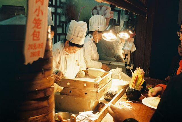 Missing China so much today (and most days)! REALLY missing the xiaolongbao, gahhhhh 🤤. . . . . . . . . . . . . . #35mm #filmisnotdead #shanghai #xiaolongbao #olympustrip35