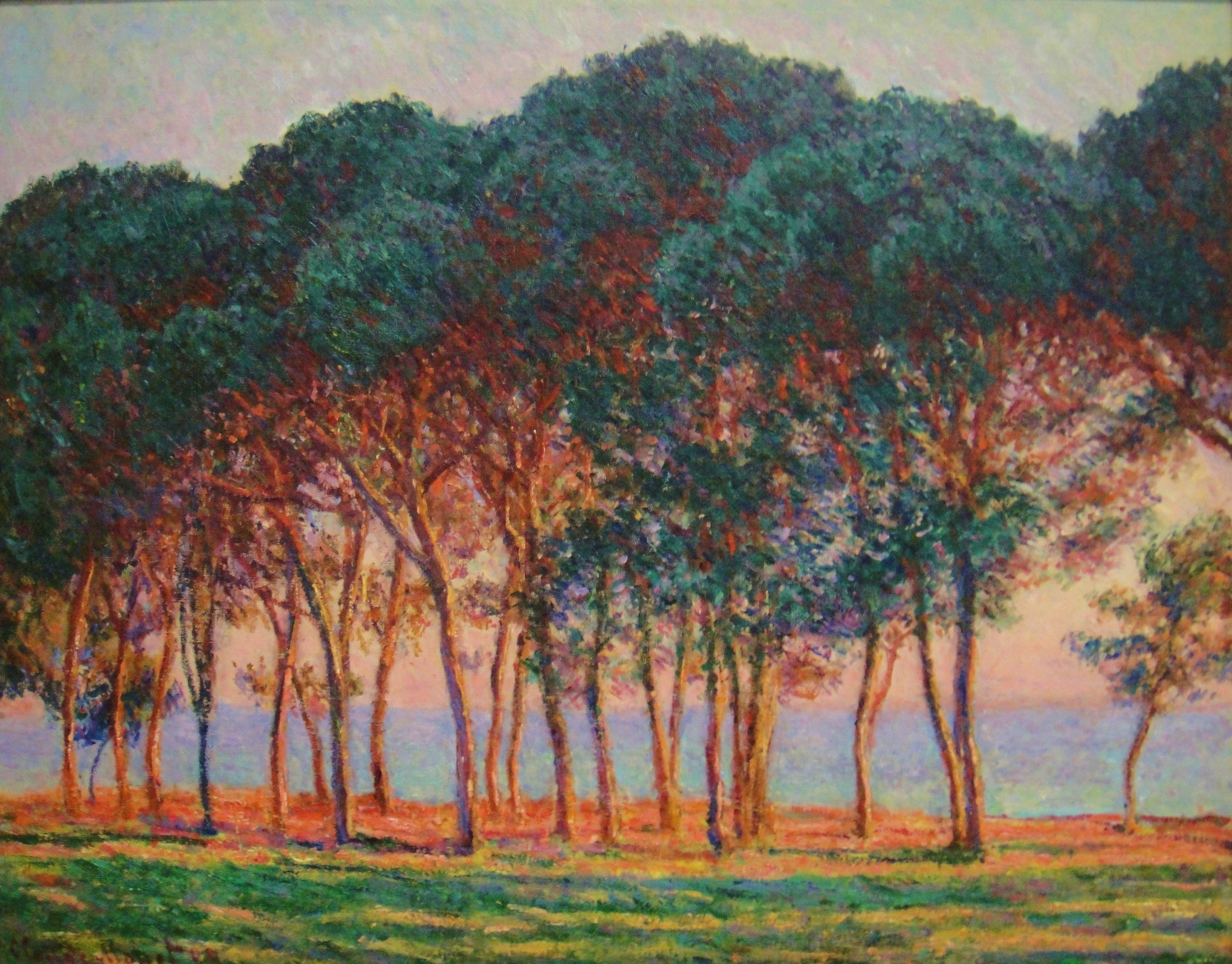 """"""" Whoever has learned how to listen to trees no longer wants to be a tree.  He wants to be nothing except what he is. That is home. That is happiness. """"        Hermann Hesse      Painting by Claude Monet"""