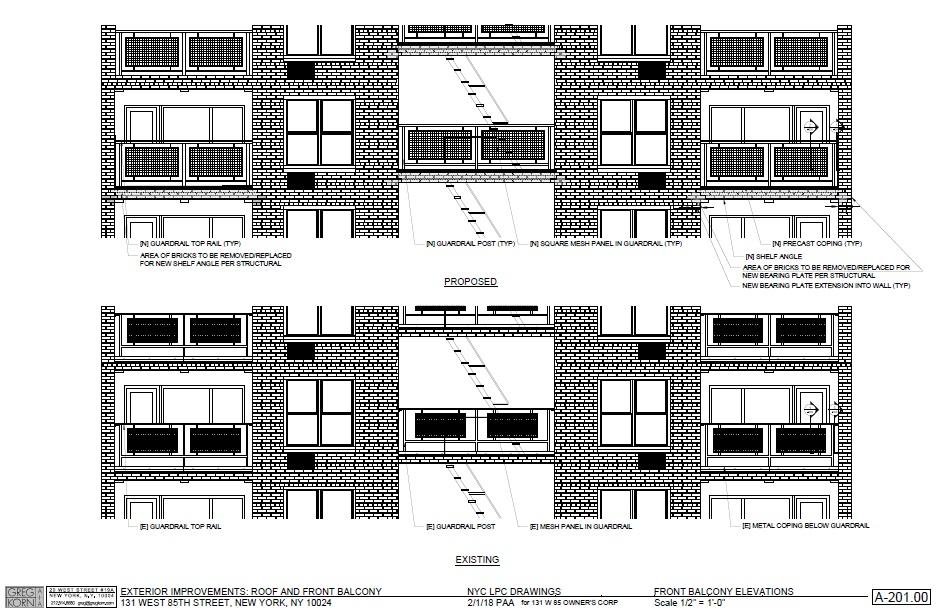 Balcony Elevations