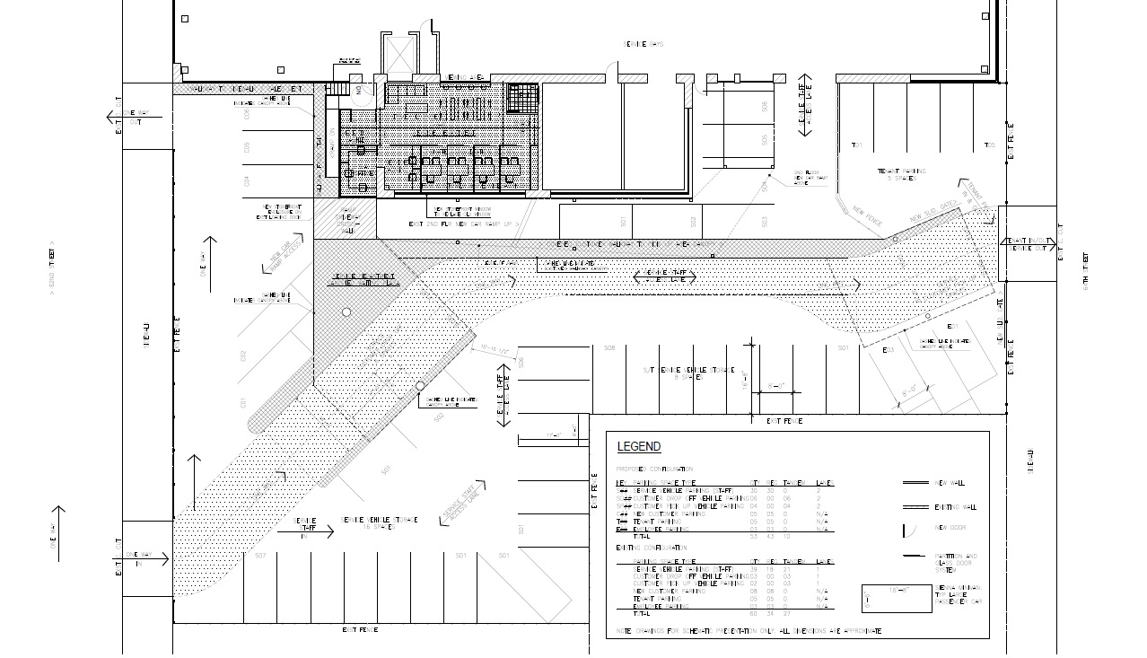 Auto Dealership Service Department Site Plan