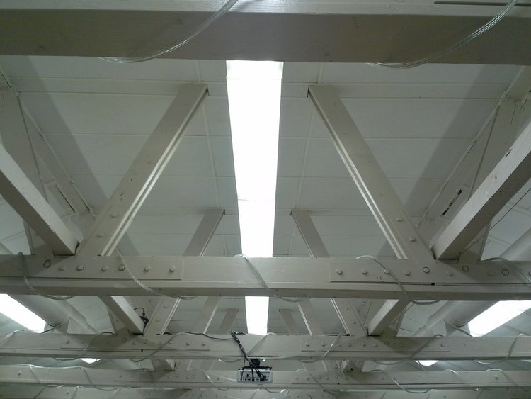 Ceiling Truss and Lighting - Before