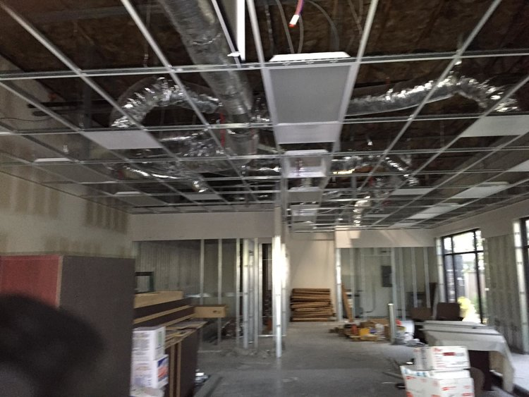 Industrial office tenant improvement corona construction progress.jpg