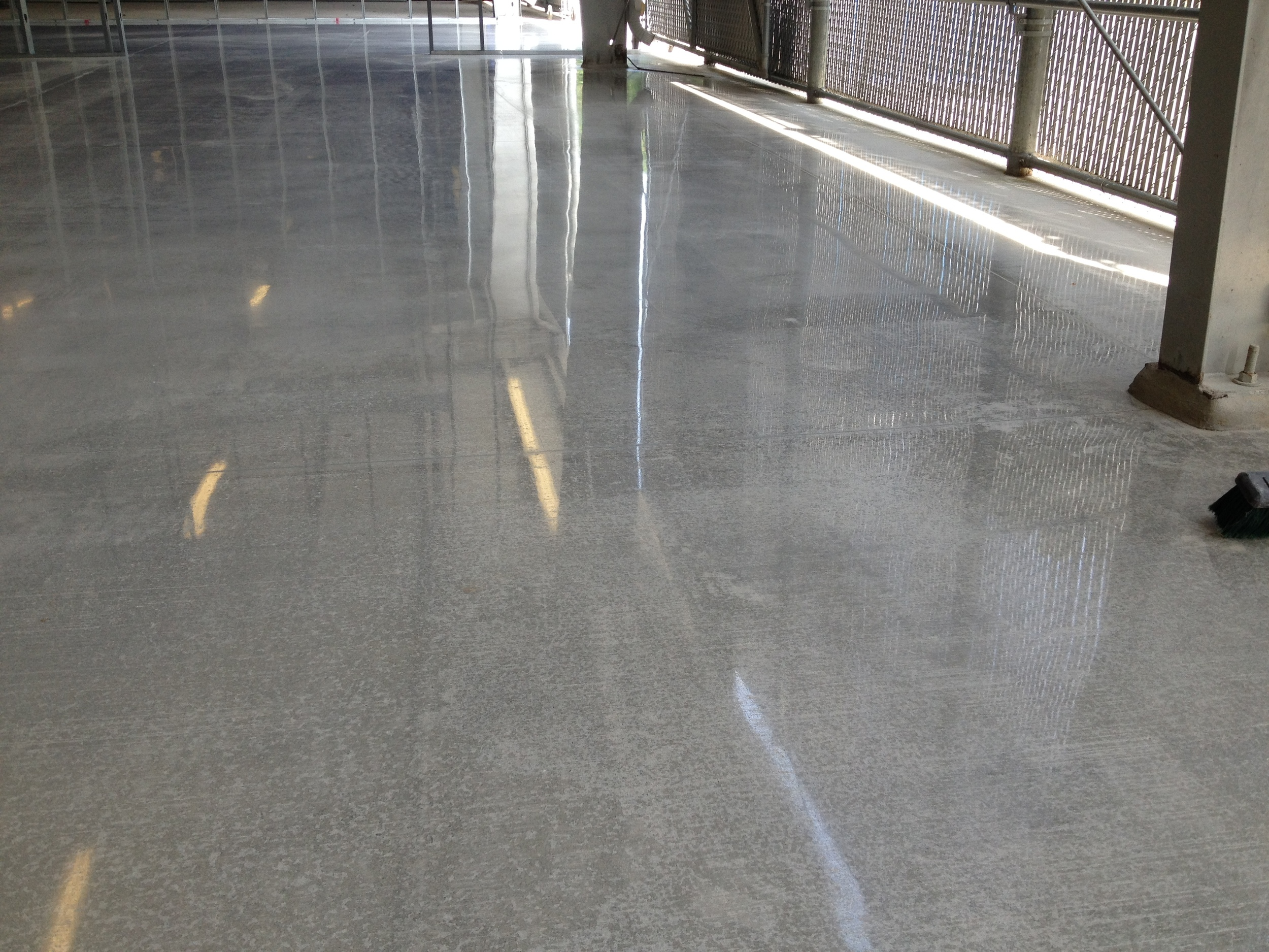 Broom Finish Concrete at Facility