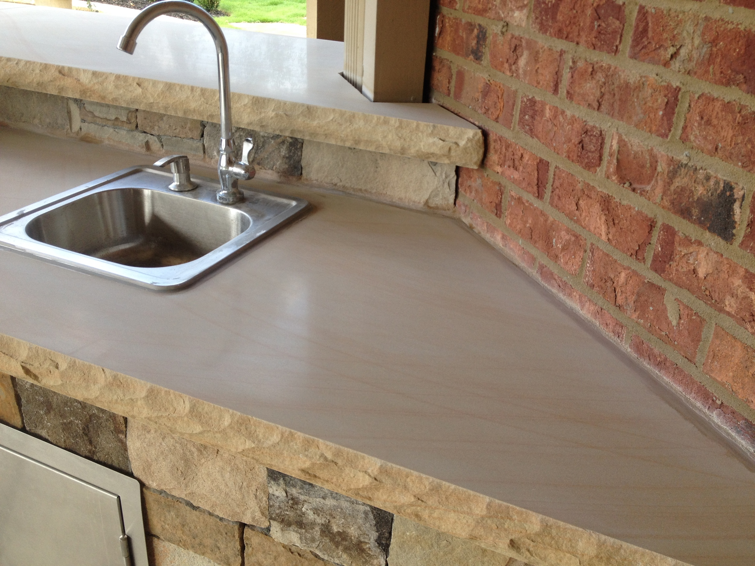 Image of Sink on Polished Sandstone Counter-Top