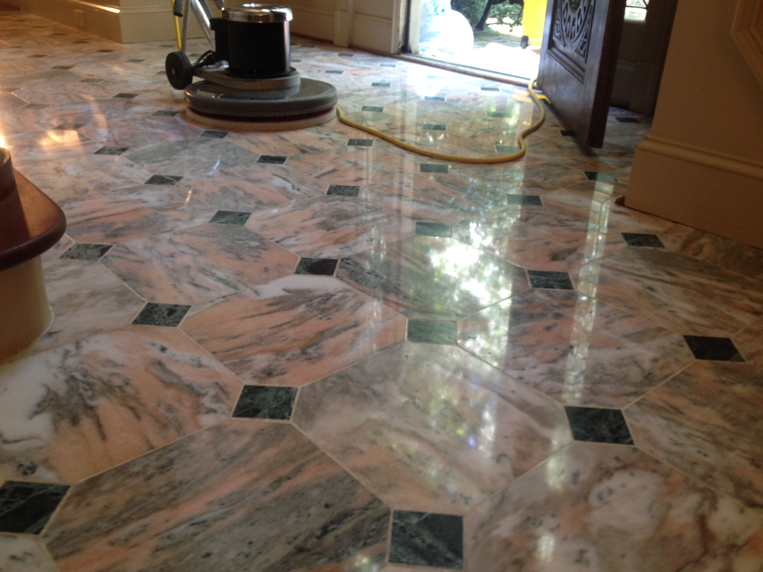 Marble Floor Prior to Polishing Service