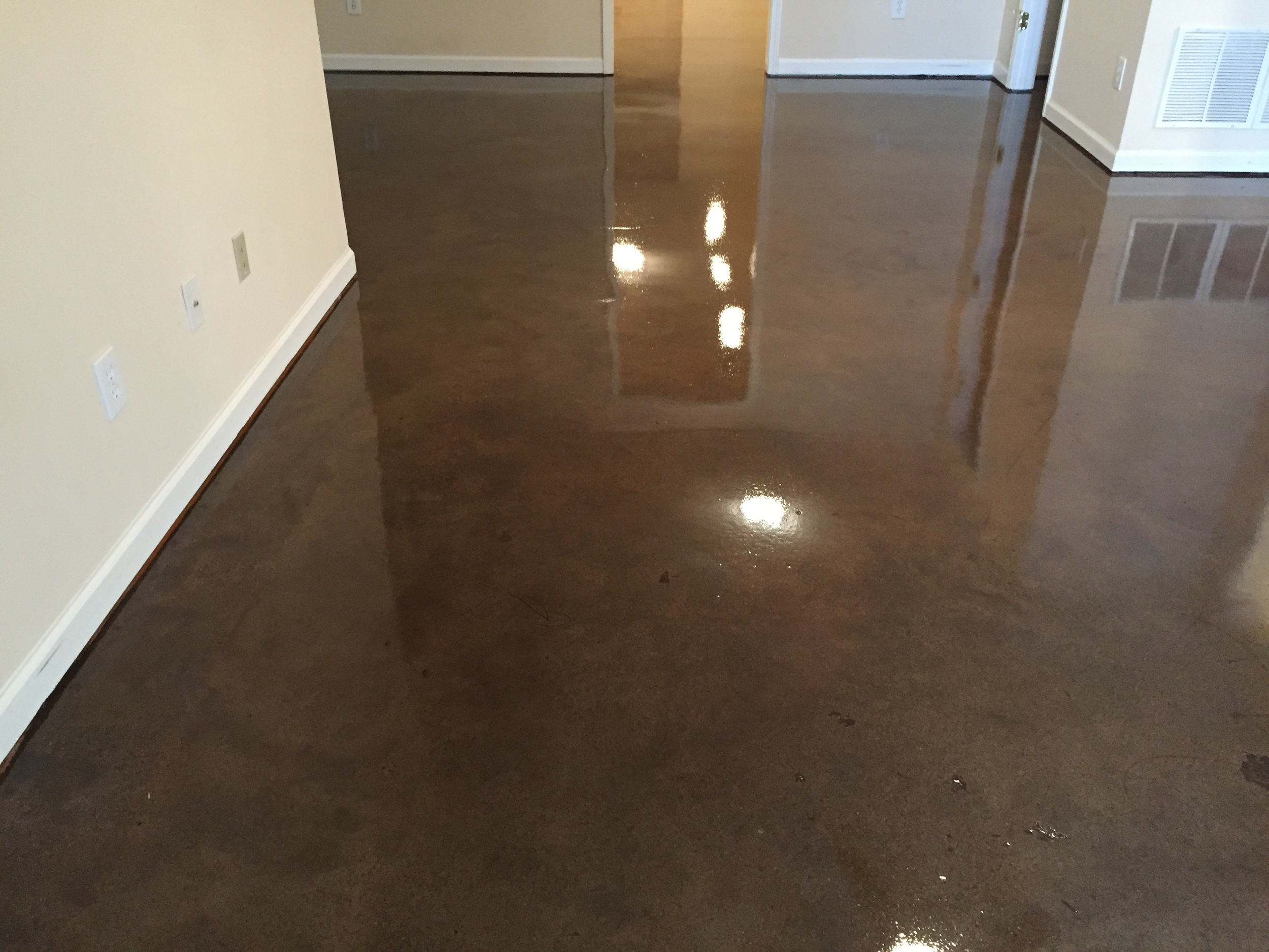 Residential Concrete Polishing in Basement