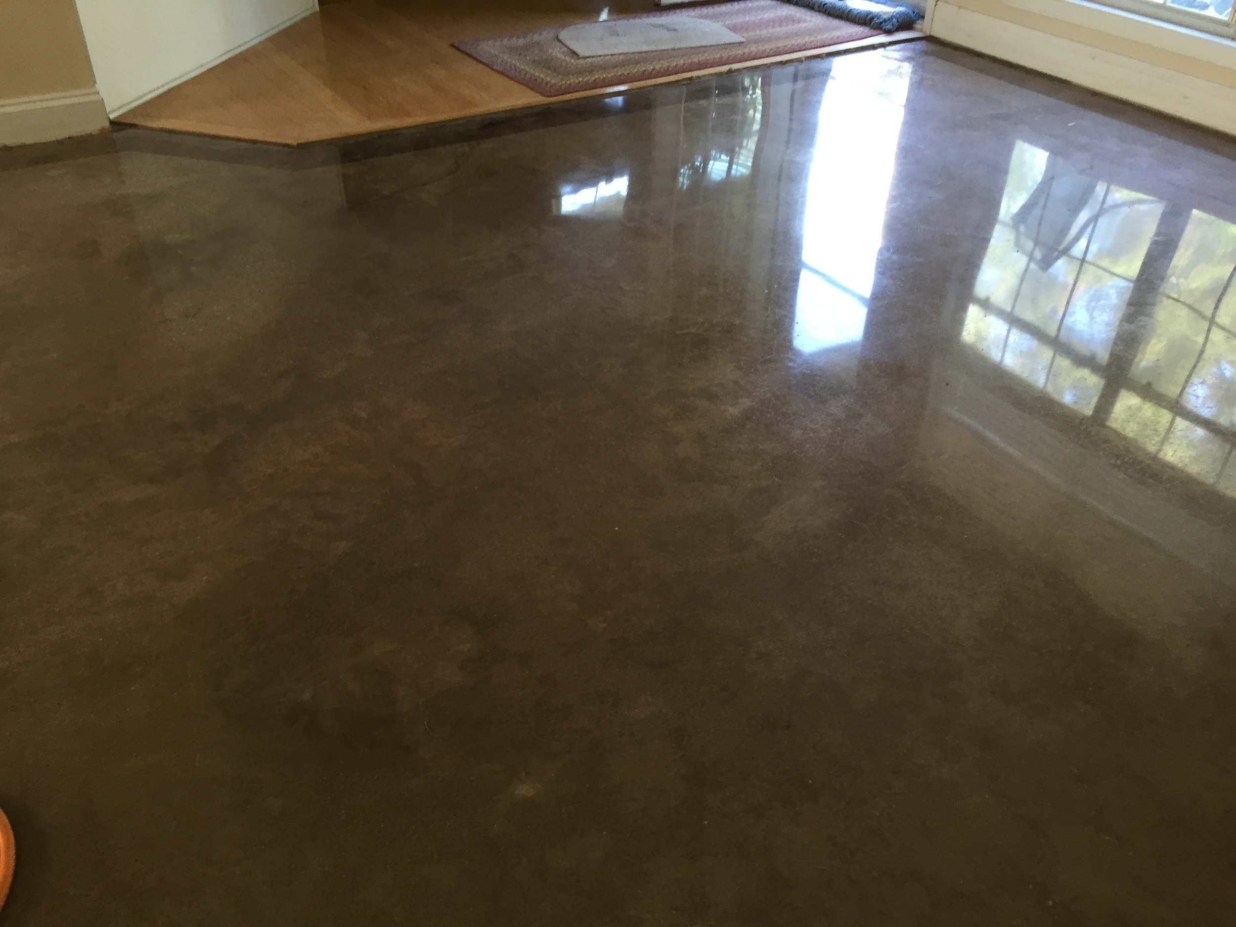 Polished Brown Concrete Floor