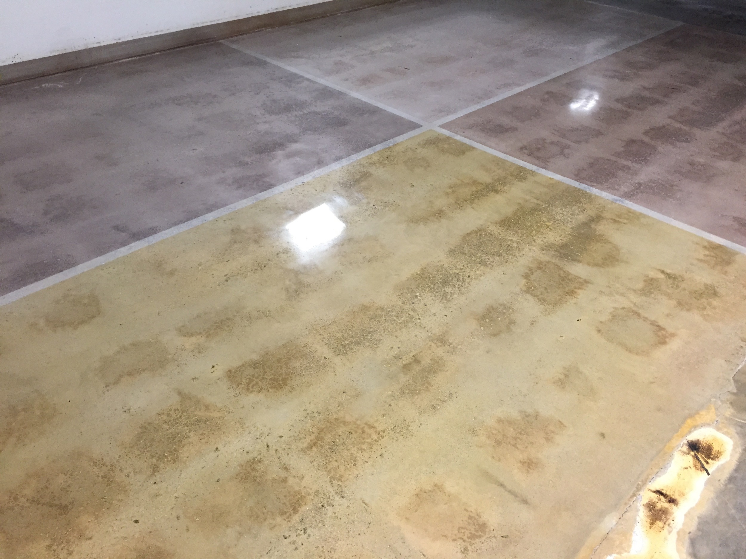Color Sample Concrete Floor Finishing Options