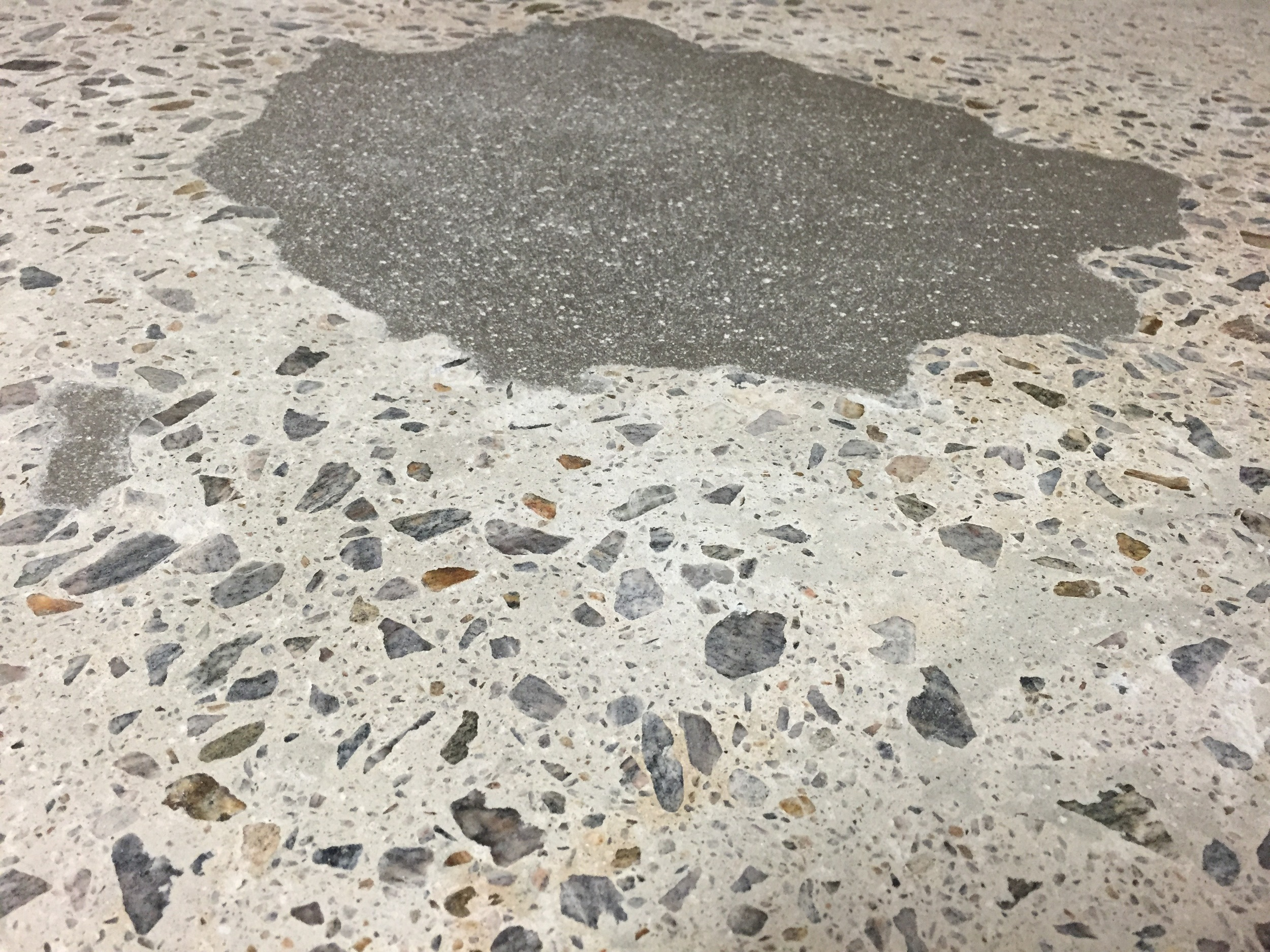 Visible Polished Concrete Repairs