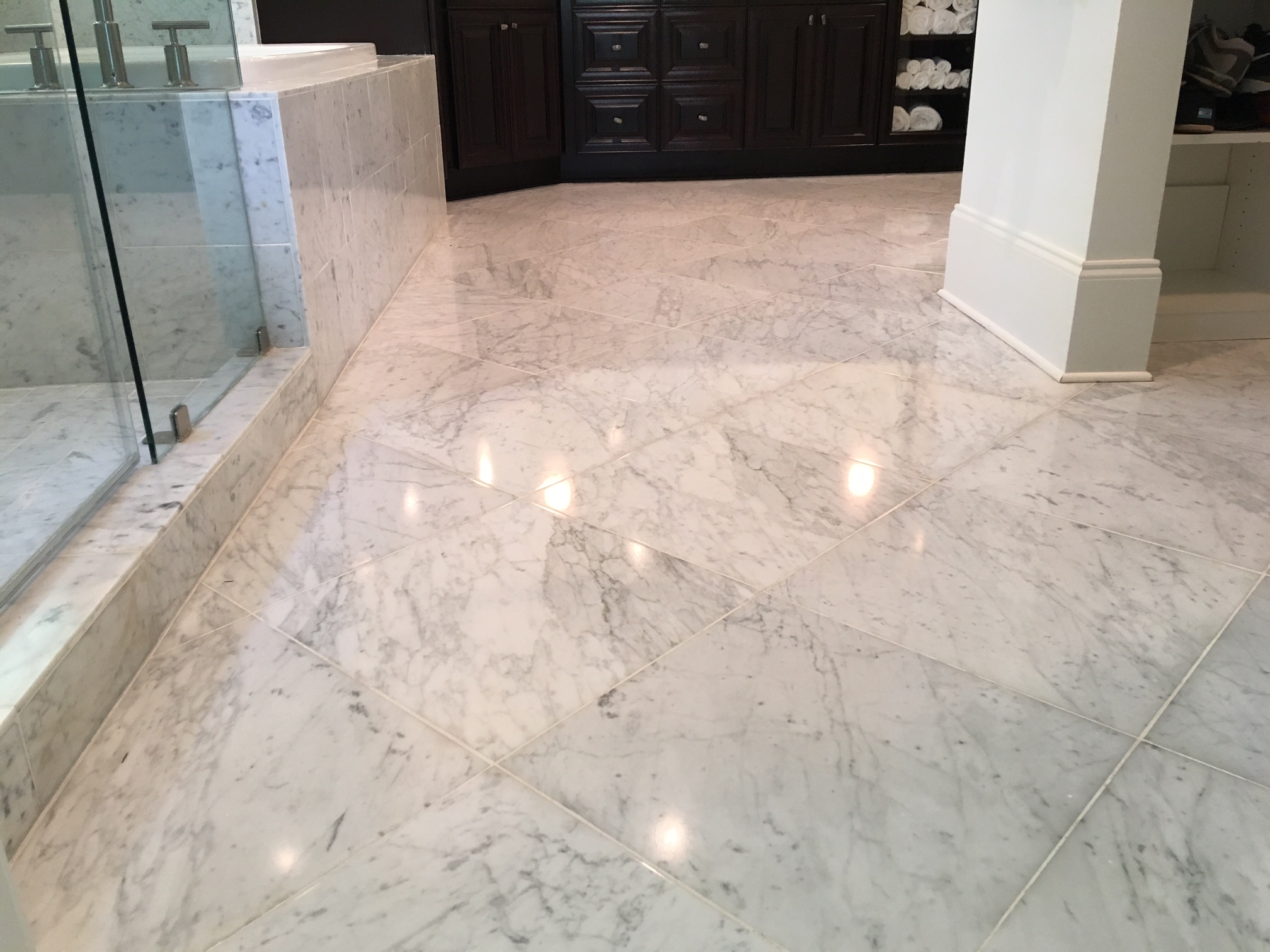 Concrete Floor Finishing Option with Natural Diamond Polish
