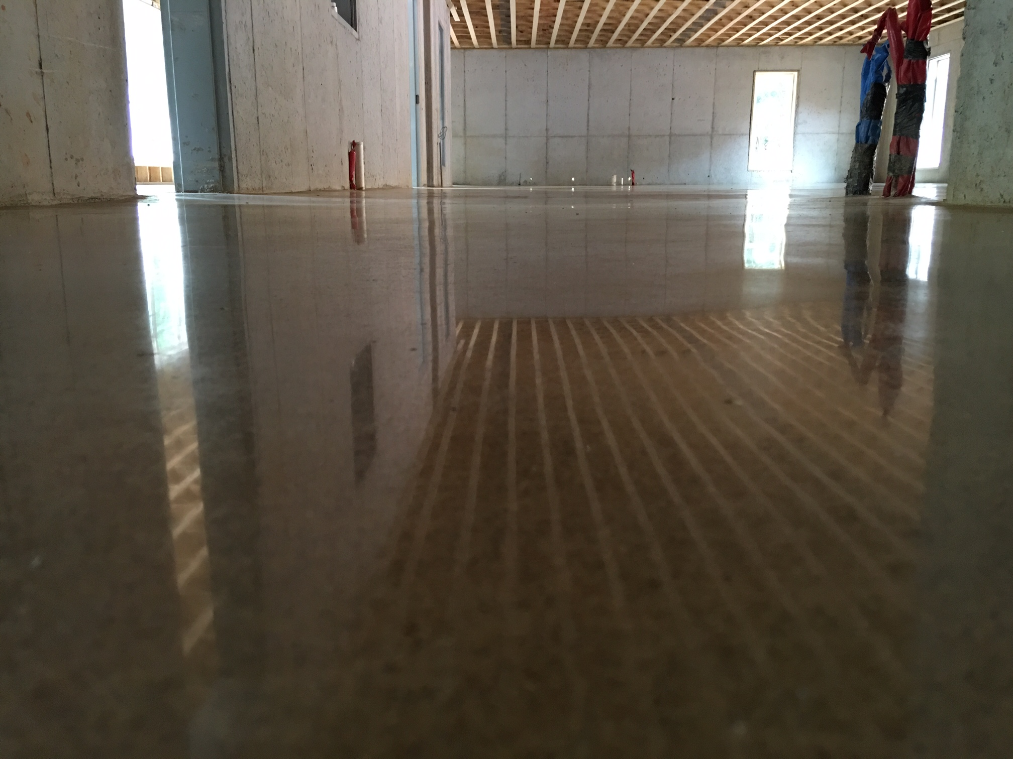 Sunlight Reflecting onto 3,000-Grit Polished Floor