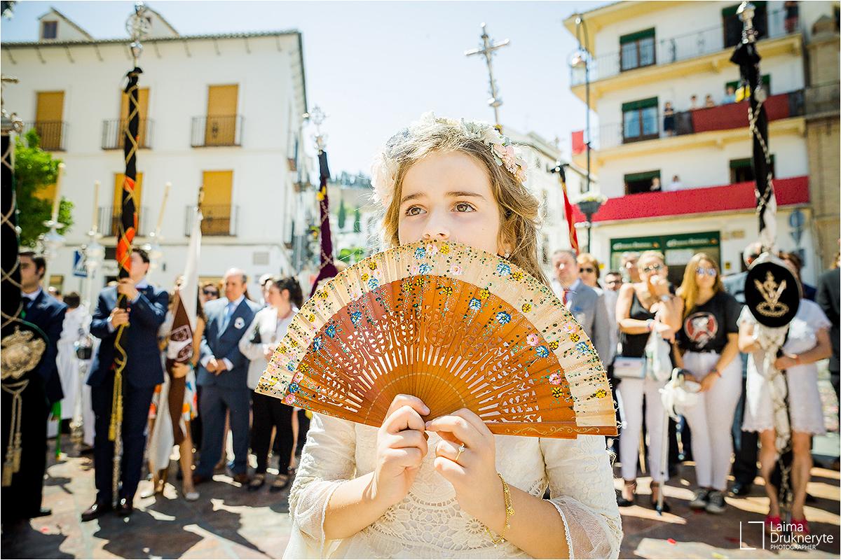 Salida de la procesión del Corpus Christi - Antequera, 2019