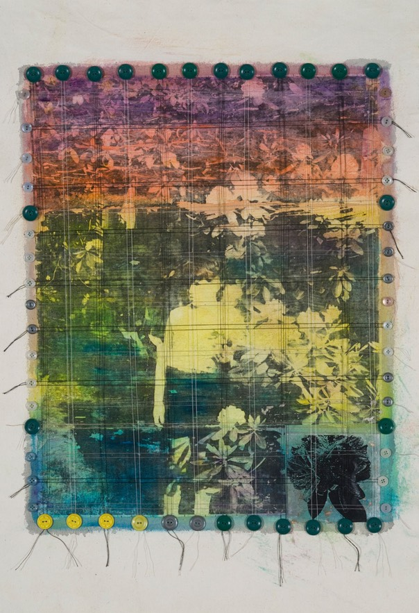 "Gail Skudera,  Solstice , 2011, Mixed media on canvas, 29"" x 21"", $1, 200."