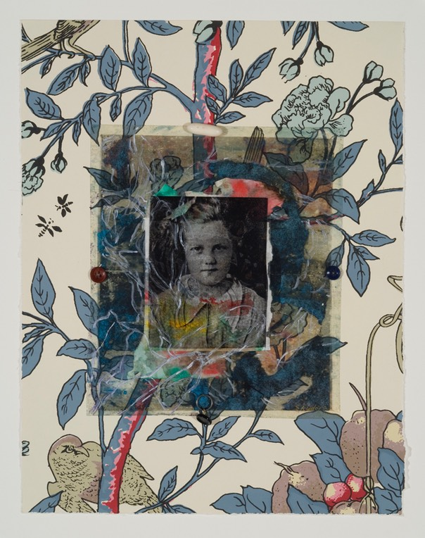 "Gail Skudera,  Bird in Vine , 2011, Mixed media, 14"" x 11, $900."