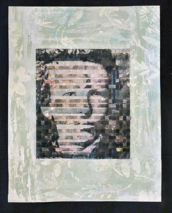 "Gail Skudera,  Undercurrent Vincent , 2016, Woven mixed media, 18"" x 12"", $1,200."