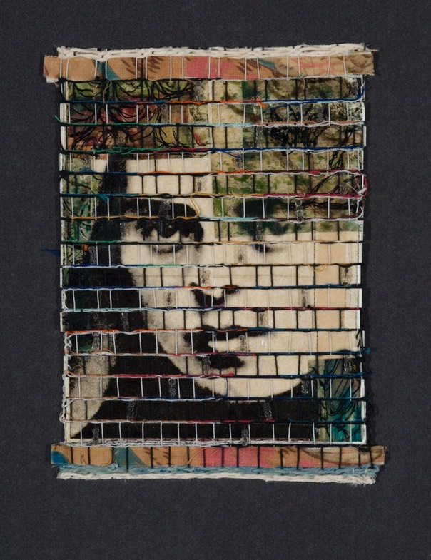 "Gail Skudera,  Dovetail 1 , 2009, Woven mixed media, 11"" x 10.5"", $800."