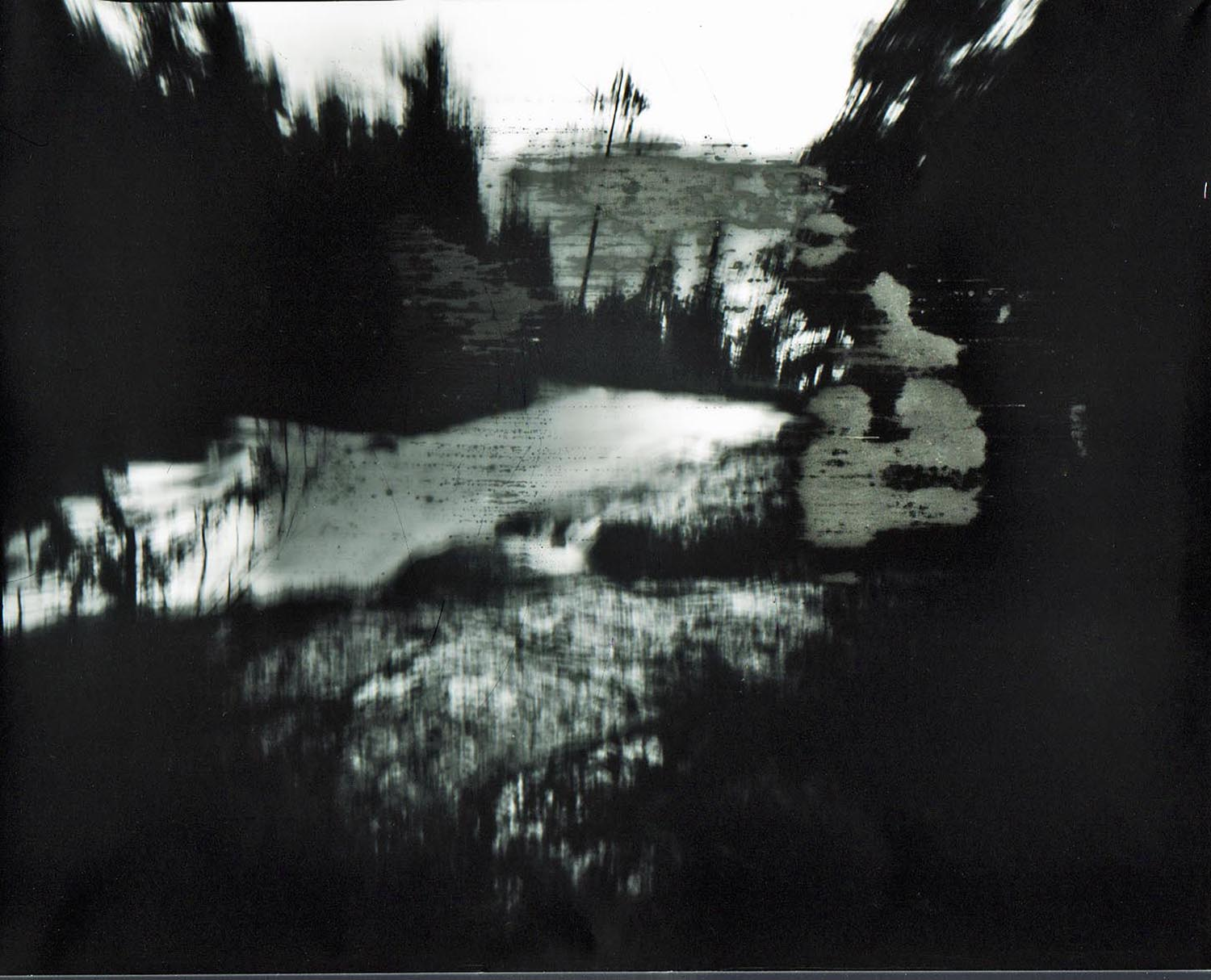 Johanna Moore,  Indian Pond Road ,2014, 8 x 10 pinhole camera image, paper negative, digital enlargement, 34.5 x 39.5 inches