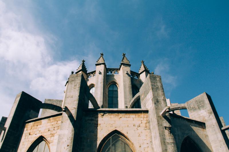 Back of the Main Church in Girona. Favorite.