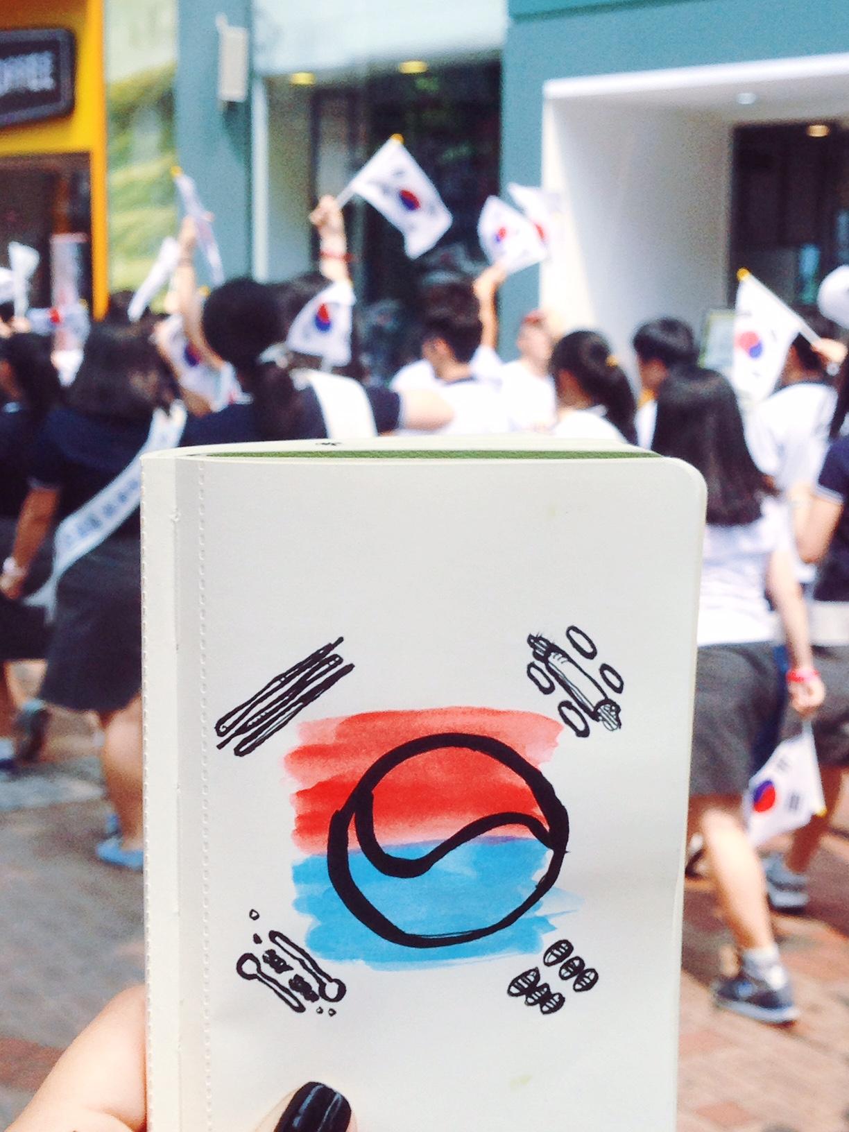 Korea Celebrando Liberación de Japón