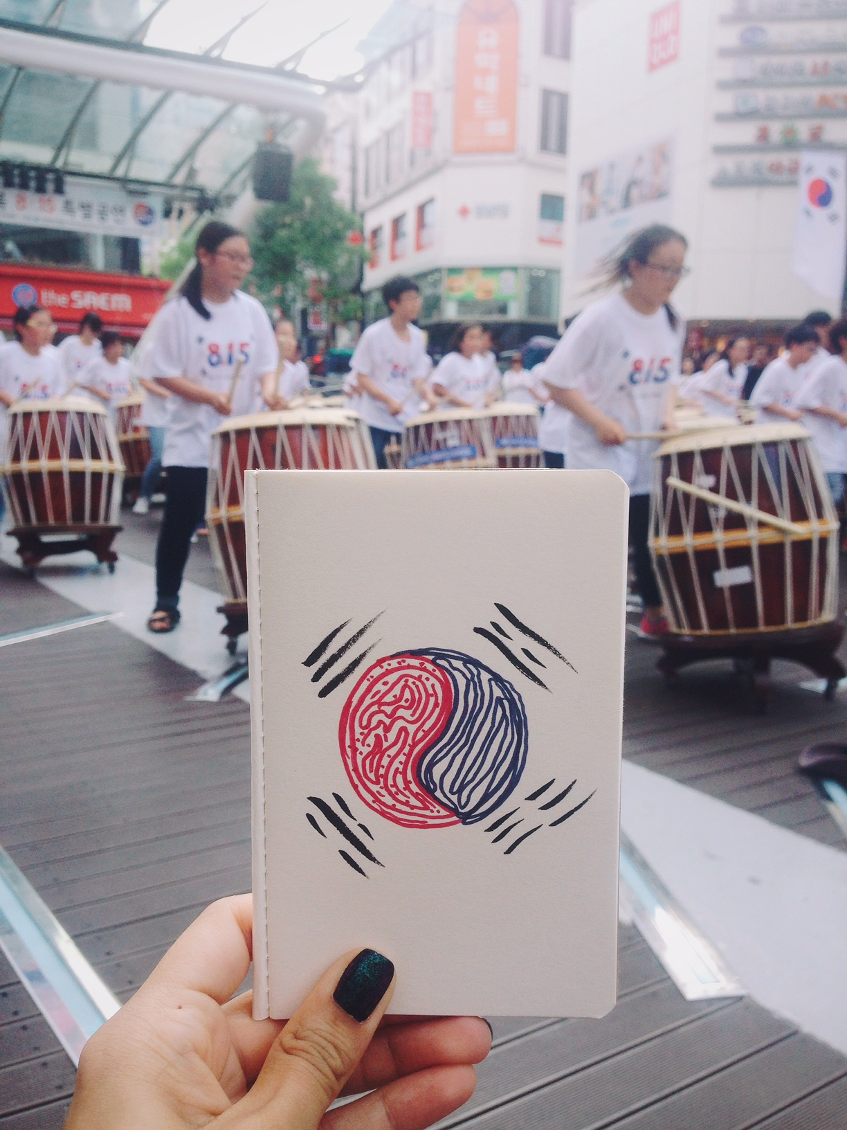 Korea celebrando su liberación de Japón