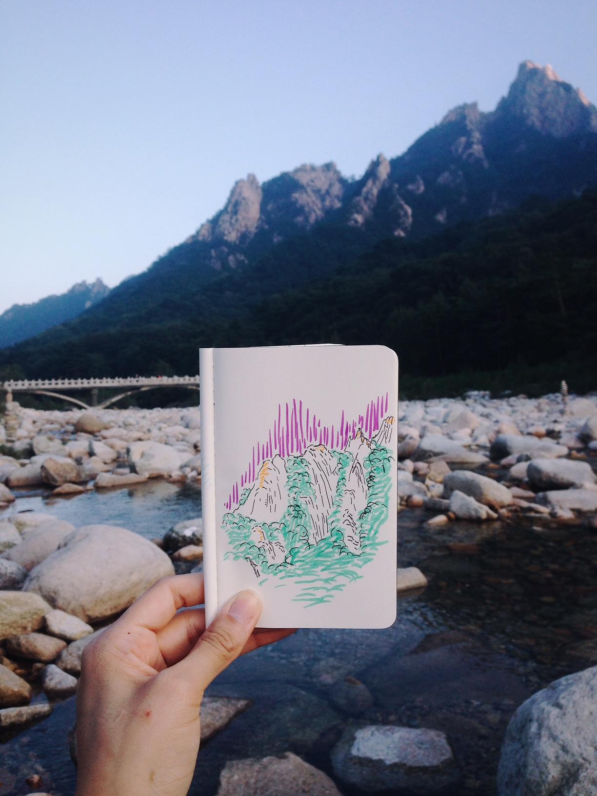 Seoraksan National Mountain in Korea