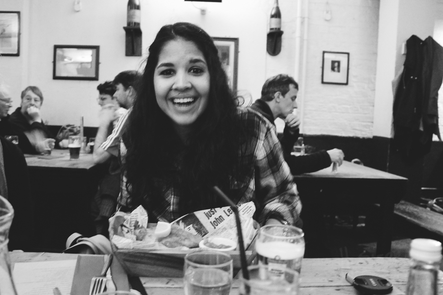 I was pretty happy about the fish and chips.
